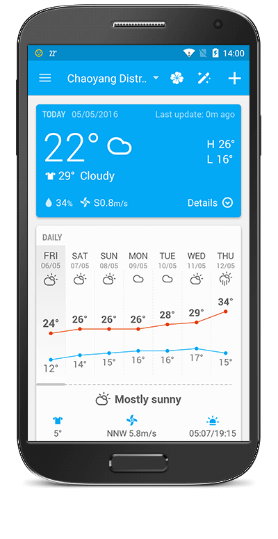 Amber Weather - accurate pinpoint weather forecast